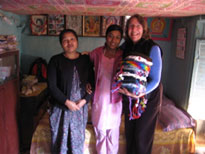 Shoshana with two staff persons of Women's Cooperative